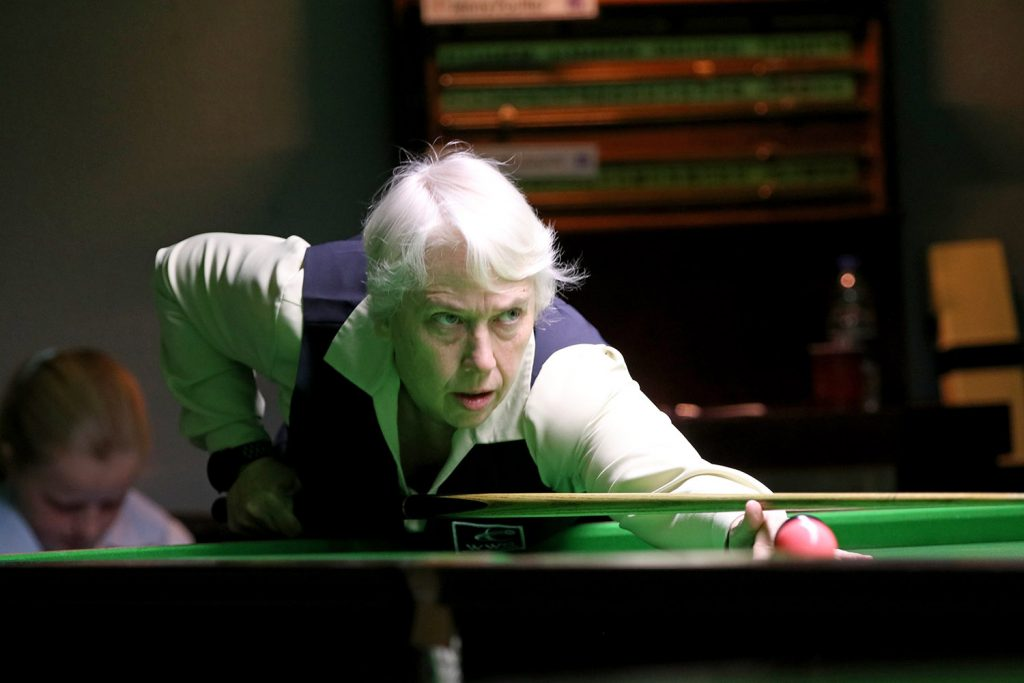 Jenny Poulter playing snooker